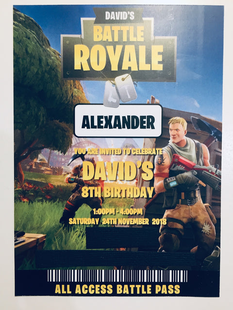 CUSTOM FORTNITE PARTY BOX - TEINANO