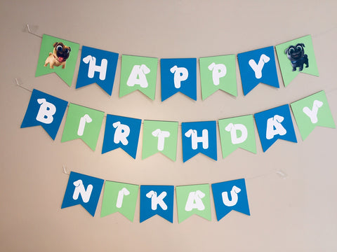 Puppy Dog Pals party supplies personalised bunting