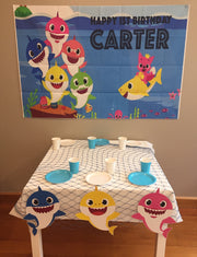 CUSTOM BABY SHARK PARTY BOX - JENNETT