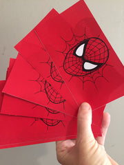 Spiderman gift box labels