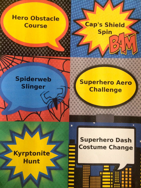 Superhero party games ideas