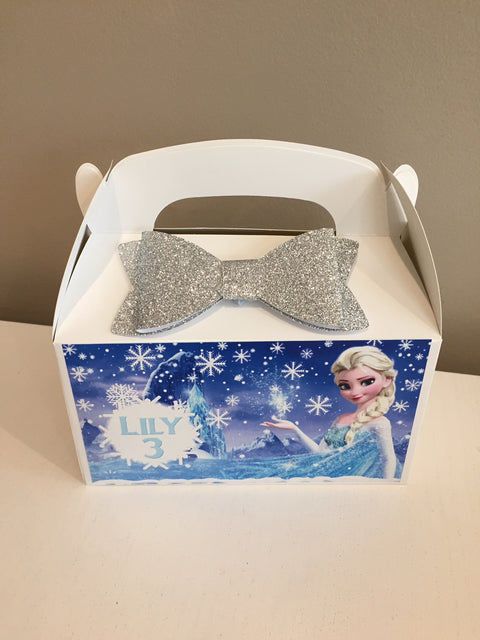 Frozen themed personalised gift party box