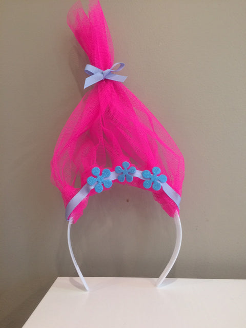 Handmade Trolls Princess Poppy headband