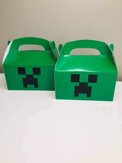 Minecraft party gift boxes
