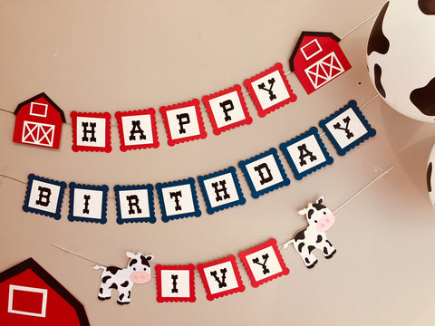 Farmyard party bunting farm bunting