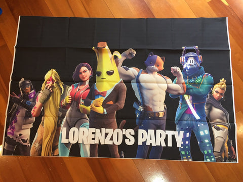 Fortnite party backdrop