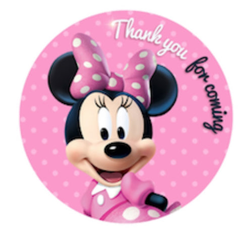 Minnie mouse personalised stickers