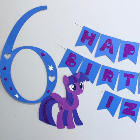 My Little Pony themed party decorations