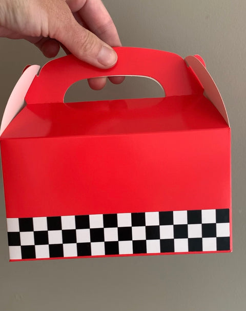 Racing themed gift boxes