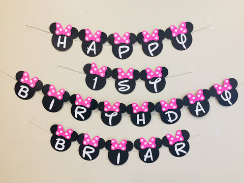 Minnie Mouse personalised bunting