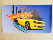 Hot Wheels vinyl party backdrop