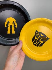 Transformers party plates