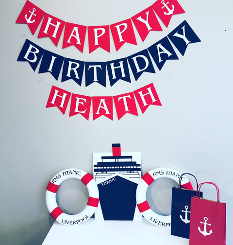 titanic personalised party decorations supplies