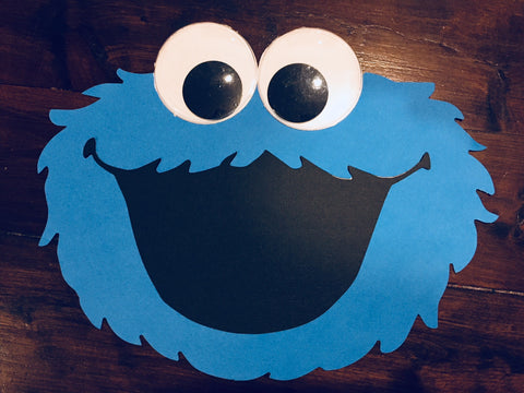 Handmade sesame street party decorations