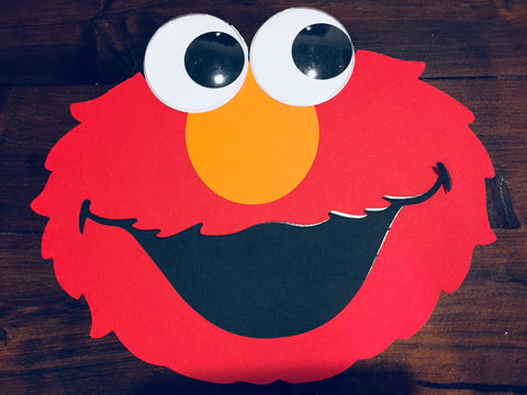 Handmade Elmo party decorations