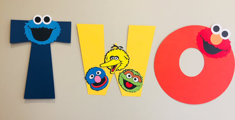Sesame street handmade party decorations