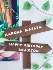 Sign post personalised party decorations