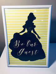 Belle party decorations