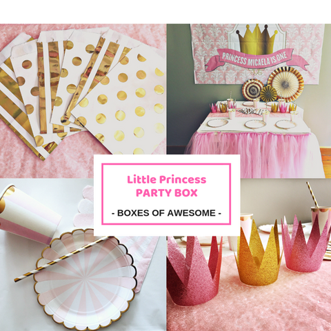 Little Princess first birthday party supplies