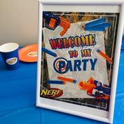 Nerf gun party supplies