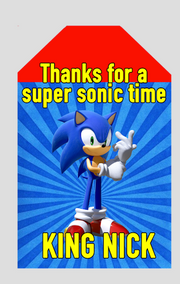 Sonic the hedgehog thankyou tags