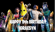Fortnite personalised party backdrop