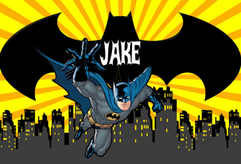 Batman personalised vinyl backdrop