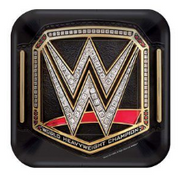 WWE party plates