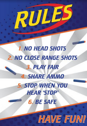 Nerf party signs