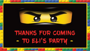 Lego ninjago personalised stickers