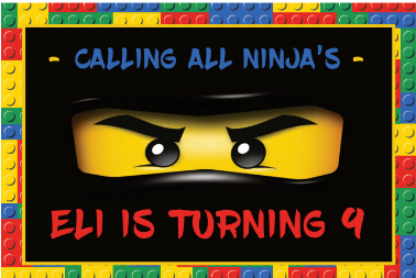 Lego ninjago personalised backdrop