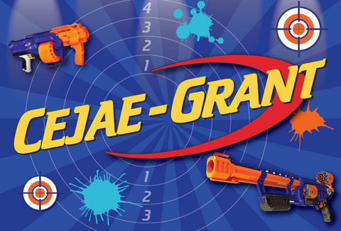 Nerf personalised party backdrop