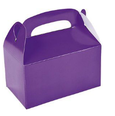 Purple party gift box