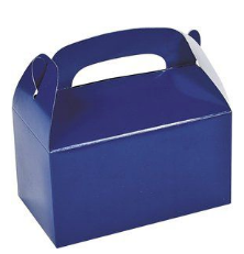 Blue party gift box