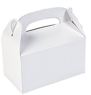 White party treat box