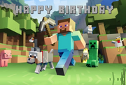 CUSTOM MINECRAFT PARTY BOX - SARA