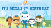 Octonauts themed personalised backdrop