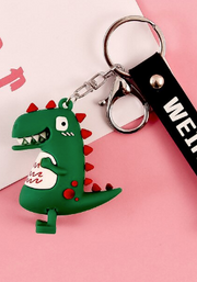 Dinosaur key rings party favours