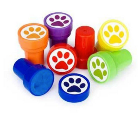 Paw print stamper party favour