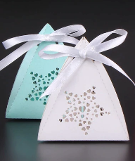 White or turquoise small gift box
