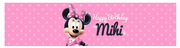 Minnie mouse personalised water labels