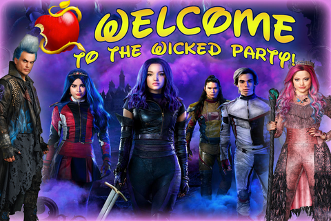 Descendants party backdrop