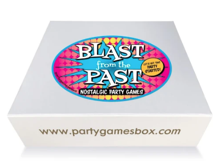 Blast from the past kids party games box