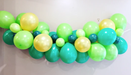 DIY balloon garland kit green and gold