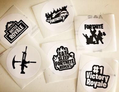 Fortnite themed stickers