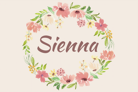 Boho floral personalised vinyl backdrop