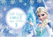 Frozen party personalised vinyl backdrop