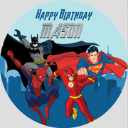 Personalised party stickers Avengers theme
