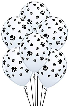 Puppy Dog Pals party supplies paw print balloons