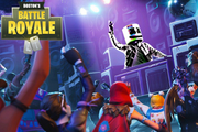 Fortnite party vinyl backdrop